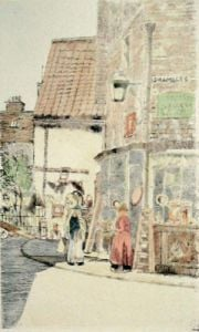 Old Curiosity Shop (Restrike Etching) by Anonymous