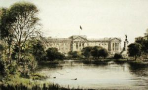 Buckingham Palace (Restrike Etching) by Anonymous
