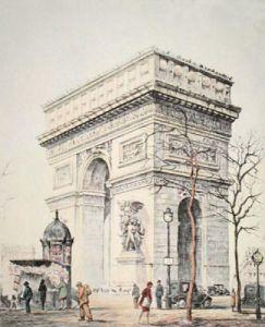 Arc de Triomphe (Restrike Etching) by Graham Gulvert