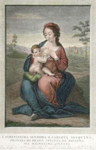 Madonna, Infanta de Espanha (Restrike Etching) by Andrea del Sarto