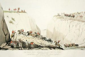 Shahs Horse Artillery (Restrike Etching) by Captain Cooper