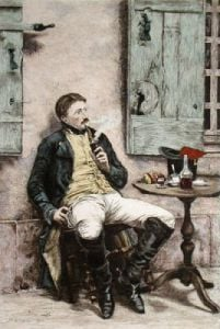 The Smoker (Restrike Etching) by Jean-Louis Ernest Meissonier