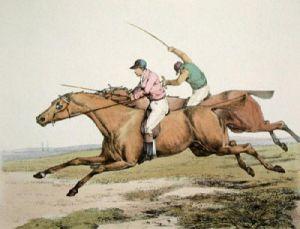 Race Horse (Restrike Etching) by Henry Alken