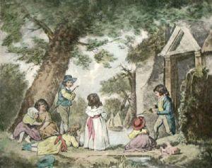 Juvenile Navigators (Restrike Etching) by George Morland