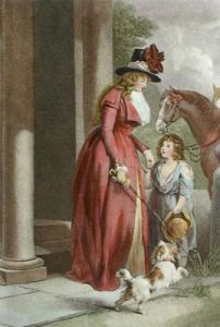 The Squire's Door (Restrike Etching) by George Morland