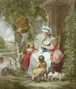 The Farmer's Door (Restrike Etching) by George Morland
