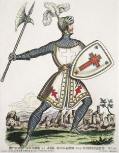 Mr Cooke as Roland the Constan (Restrike Etching) by Anonymous