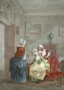 French Scenes - Plate V (Restrike Etching) by Anonymous