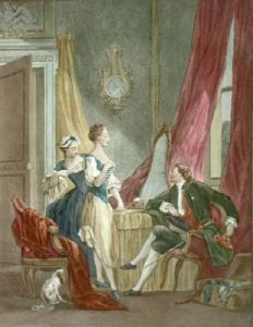 French Scenes - Plate VIII (Restrike Etching) by Anonymous