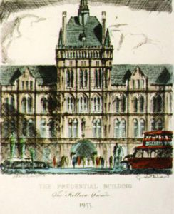 The Prudential Building (Restrike Etching) by Anonymous
