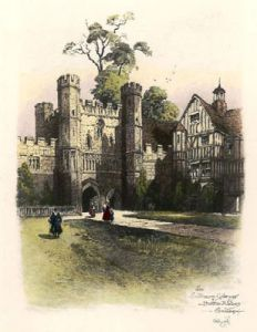 Battle Abbey Gateway (Restrike Etching) by Anonymous