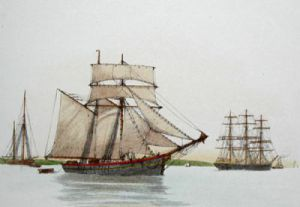 Ship - Plate I (Restrike Etching) by Anonymous