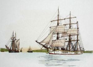 Ship - Plate II (Restrike Etching) by Anonymous