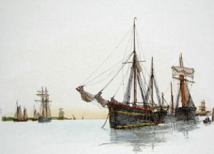 Ship - Plate IV (Restrike Etching) by Anonymous