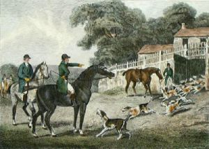 Harehunting, Plate 1 (Restrike Etching) by Samuel Howitt