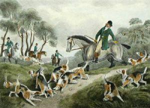 Harehunting, Plate 111 (Restrike Etching) by Samuel Howitt
