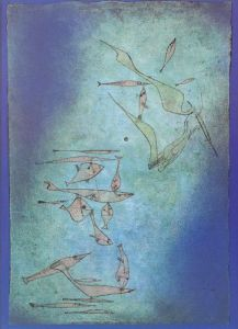 Picture Showing Fish by Paul Klee