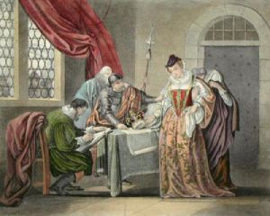 Mary Queen of Scots (Restrike Etching) by Anonymous