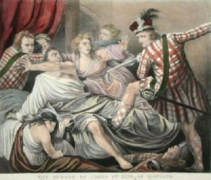 Murder of James the First (Restrike Etching) by Anonymous
