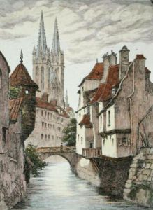Cologne, Germany (Restrike Etching) by Anonymous