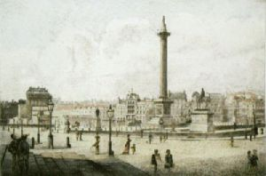 Trafalgar Square, London (Restrike Etching) by Anonymous