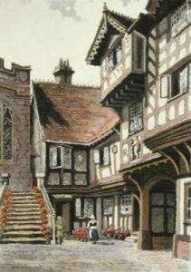 Leicester Hospital (Restrike Etching) by Anonymous