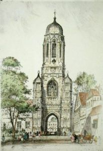 Christchurch Tower, Oxford (Restrike Etching) by Anonymous