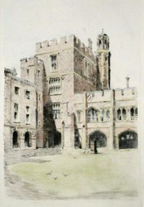 Cloisters at Eton (Restrike Etching) by Anonymous