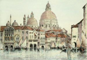 St Marks, Venice (Restrike Etching) by Anonymous