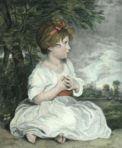 Age of Innocence (Restrike Etching) by Sir Joshua Reynolds