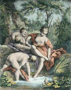 Venus et Les Gracea au Bain (Restrike Etching) by Sir Joshua Reynolds