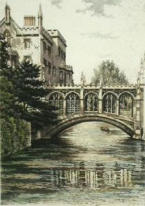 Bridge of Sighs, St John's (Restrike Etching) by Anonymous