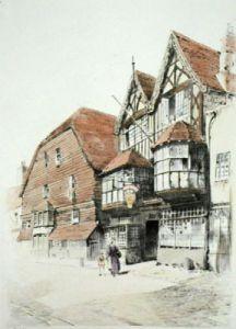 George Inn, Salisbury (Restrike Etching) by Anonymous