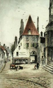 Restaurant of the Black Hen (Restrike Etching) by Anonymous