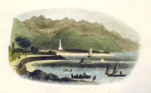 Rostrevor & Ross Monument (Restrike Etching) by Anonymous