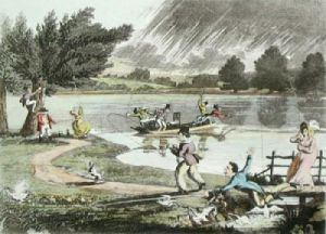 Smiling Showers of Ducks (Restrike Etching) by Anonymous