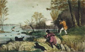 Duck Shooting (Restrike Etching) by Henry Alken