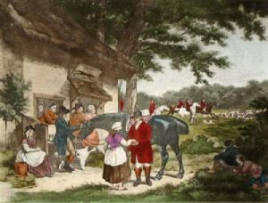 Going Out (Restrike Etching) by George Morland