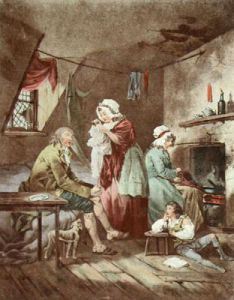 Effect of Youthful Extravagance (Restrike Etching) by George Morland