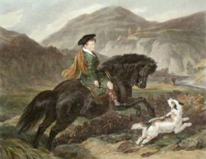 The Young Mountaineer (Restrike Etching) by Sir Edwin Henry Landseer