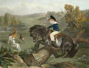 The First Leap (Restrike Etching) by Sir Edwin Henry Landseer