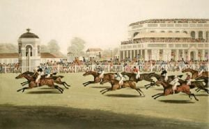 Panoramic View, Brit. Horse Race (Restrike Etching) by Clifton Thomas