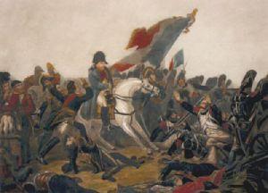 Bonaparte at Waterloo (Restrike Etching) by Karl Steuben