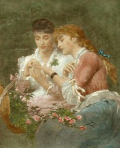 Thorn amidst the Roses (Restrike Etching) by James Sant