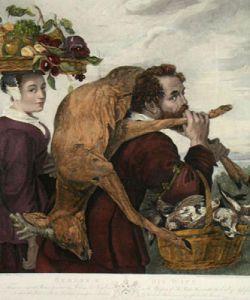 Rubens & his Wife (Restrike Etching) by Peter Paul Rubens