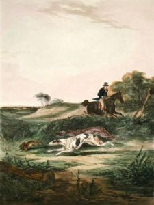 The Game in View (Restrike Etching) by William Joseph Shayer