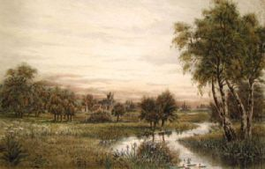 The Water Meadows (Restrike Etching) by Anonymous