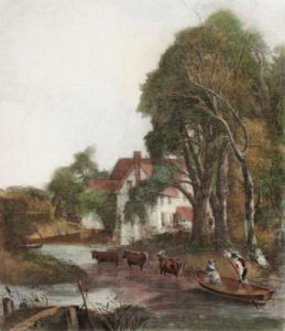 Valley Farm (Restrike Etching) by John Constable