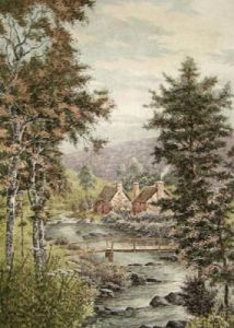 The Vale of Lynn (Restrike Etching) by Anonymous