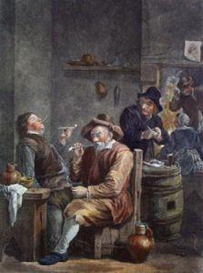 Dutch Smokers (Restrike Etching) by Julian Teniers
